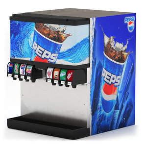 3D soda fountain machine 02 model