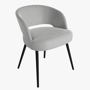 3D chair modern upholstered
