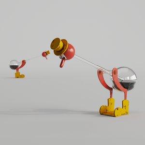 3D drinking water model