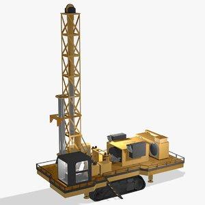 blasthole drill 3D model