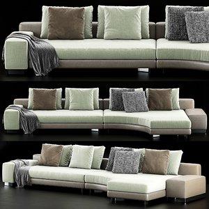 minotti daniels sofa model