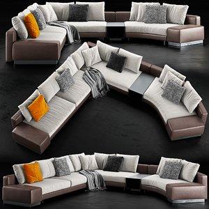 minotti daniels sofa 3D
