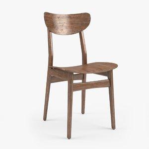 classical scandinavian chair 3D model