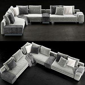 3D minotti daniels sofa