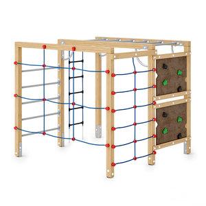 3D climbing playgrounds combination