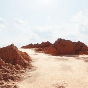 desert terrain landscape 3D