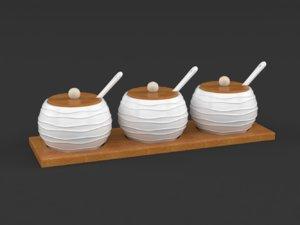 porcelain condiment jar spice 3D model