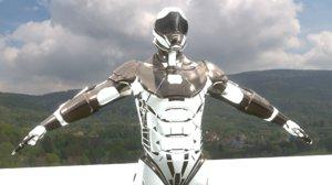 cyborg armor suit model