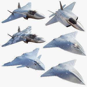 fighter jet concept future 3D model