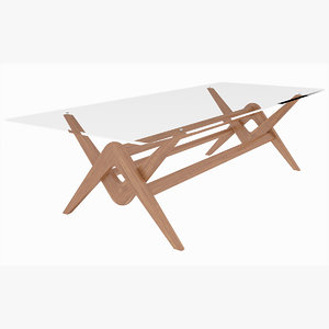 3D capitol complex table cassina