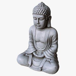 scanned buddha 3D