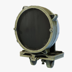 3D infra-red searchlight l-2g tanks model