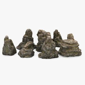 rock boulders 3D model
