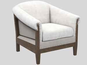 3D avis nude armchair crearte model