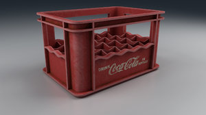 old beverage crate red 3D