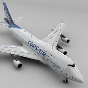 boeing 747 corsair l816 3D model