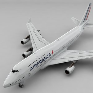 3D boeing 747 air france model