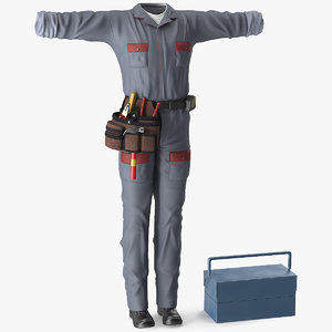 3D locksmith clothes model