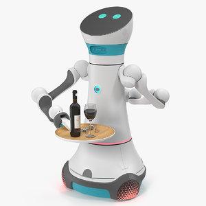 modular service robot bartender 3D