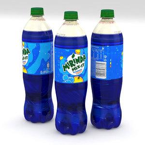 3D beverage bottle model