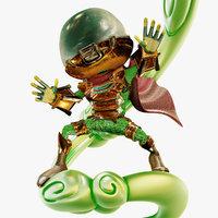 cartoon Mysterio, enemy of spiderman