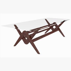 capitol complex table cassina 3D model