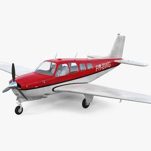 3D light civil airplane air