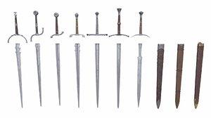 swords blade 3D