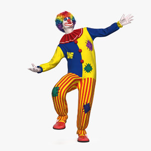 adult clown suit rigged 3D model