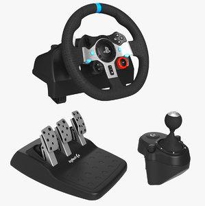 logitech g29 driving force 3D model