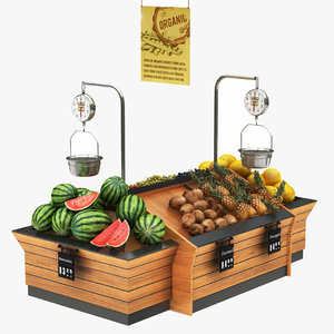 fruit vegatables display stand 3D model
