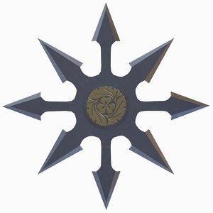 3D model shuriken-12