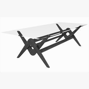 3D model capitol complex table cassina