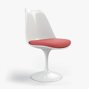 3D model tulip chair eero saarinen