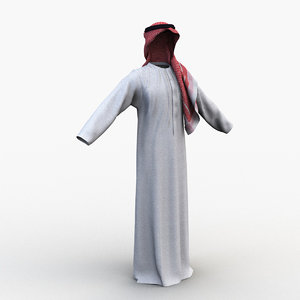 middle east male clothing 3D model