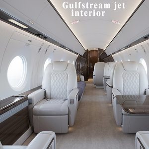 3D gulfstream g500 business jet