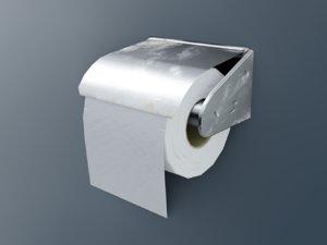 3D dirty toilet paper model