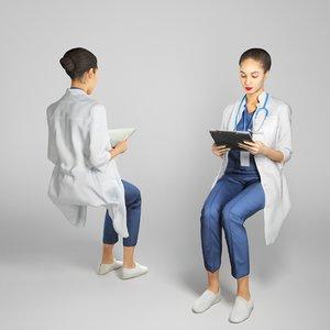 3D human nurse model