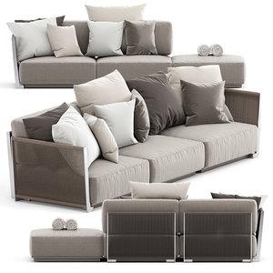 outdoor sofa vulcano 3D model