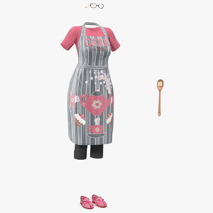 3D kitchen clothing apron