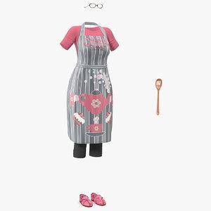3D kitchen clothing apron