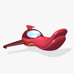 cartoon duck aircraft 3D model