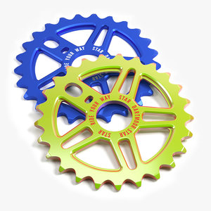 3D bicycle bmx sprockets