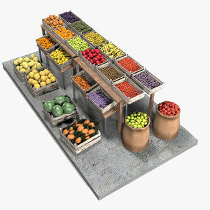 fruit stand market 3D