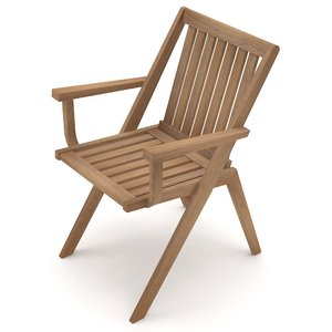 simple garden chair 3D