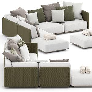 eddy outdoor sofa 2 model