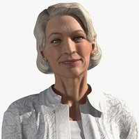 Elderly Lady in Casual Clothes Rigged