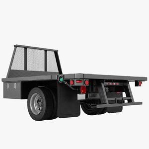 3D flatbed dump truck model