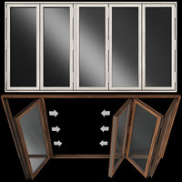 Folding Stained Glass Wooden Doors