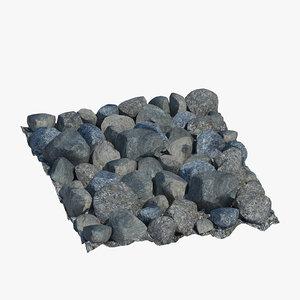 rocky surface stone 3D model